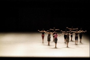 "(Batsheva Dance Company in Ohad Naharin's ""Three"" - photo by Gadi Dagon)"